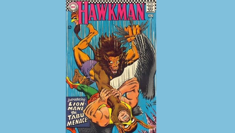 Hawkman cover with Lion-Mane