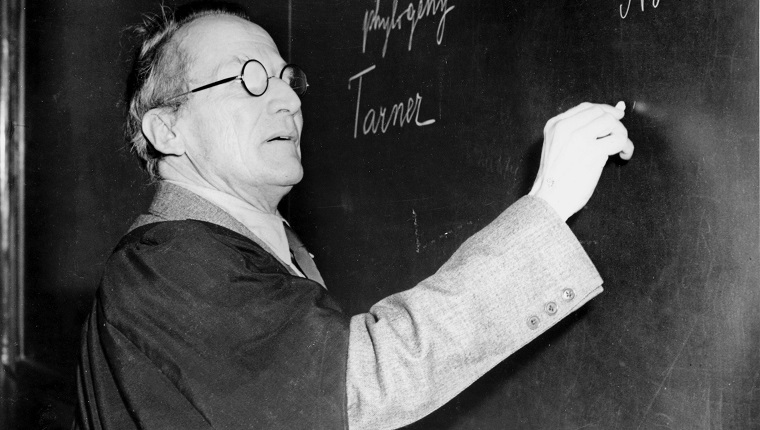 AUSTRIA - AUGUST 28: Erwin Schrodinger (1887-1961) founded wave mechanics, creating Schrodinger's equation. Louis-Victor Pierre- Raymond de Broglie had discovered the wave nature of particles when he realised that all particles have associated waves The properties of the particle are the result of a combination of its particle-like and wave-like nature. Schrodinger shared the Nobel Prize for physics in 1933, with the British theoretical physicist Paul Dirac, for his wave equation.