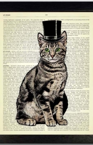 Top Hat Cat Art