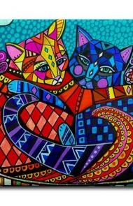Ceramic Tiles Cat Art